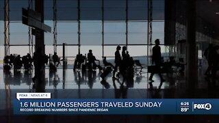 Record breaking numbers for travel last week