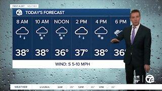 Metro Detroit Forecast: Rain and snow today