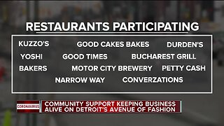 Community support keeping business alive on Detroit's Avenue of Fashion