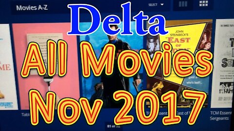 [WRONG] Delta's In flight movies for November 2017 (All movies)