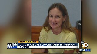 Cyclist on life support after Ramona hit-and-run
