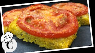 Baked Polenta with Tomatoes! An Easy, Healthy Recipe!
