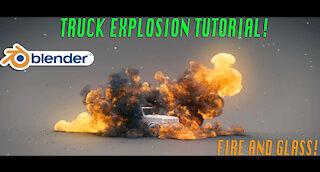 Blender 3d Explosion tutorial: Dynamic truck explosion Ft. KHAOS add-on