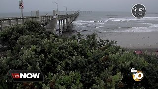 Dangerous conditions along the coast as storm moves through