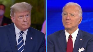 President Trump And Joe Biden Hold Dueling Town Halls