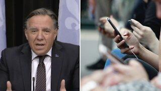 Les Québécois vont recevoir un vrai message d'alerte sur leur cellulaire aujourd'hui