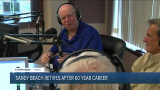Local radio legend Sandy Beach retires after a career spanning sixty years