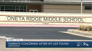 Parents Concerned After Hit List Found