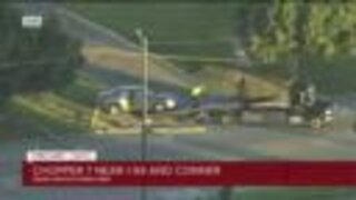 Crash knock down lines near I-94 and Conner