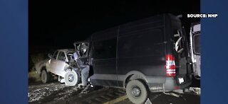 Nevada Highway Patrol identifies drivers in deadly wrong-way crash near Moapa Valley