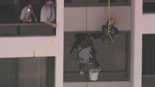 VIDEO: Crews rescue worker from high-rise building in North Palm Beach