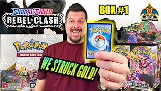 Rebel Clash Booster Case (Box 1) | Pokemon Cards Opening