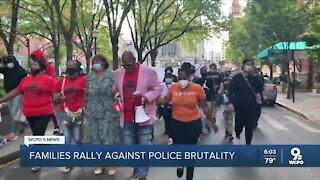 Parents protest police brutality outside Cincinnati City Hall