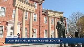 Lawyers Mall rededicated in Annapolis