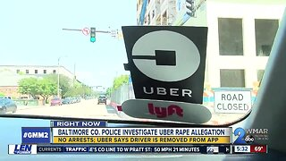 Baltimore Co. rape investigation: Woman says Uber driver sexually assaulted her