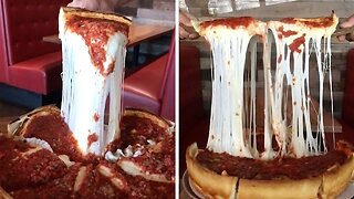 FOOD ENTHUSIAST FINDS RIDICULOUSLY CHEESY PIZZA