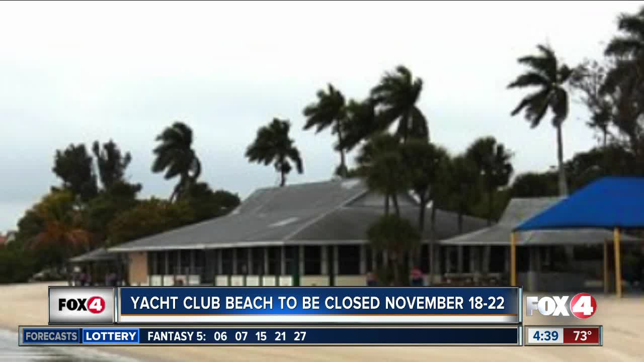Yacht Club Beaach in Cape Coral to close November 18-22