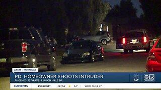 Intruder shot by homeowner in Phoenix