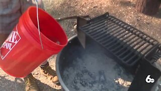 Preventing human-caused wildfires; put out your campfire completely