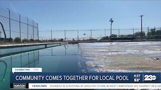 Boron community comes together to rebuild their local pool