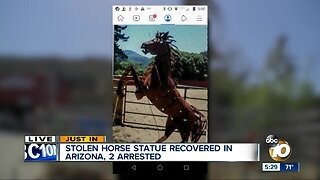 Deputies recover iconic horse statue