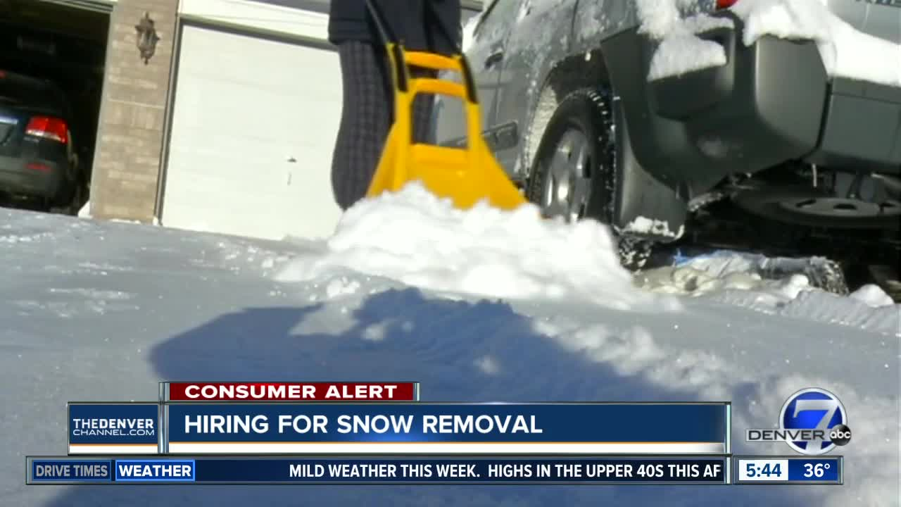 BBB alert for snow removal companies