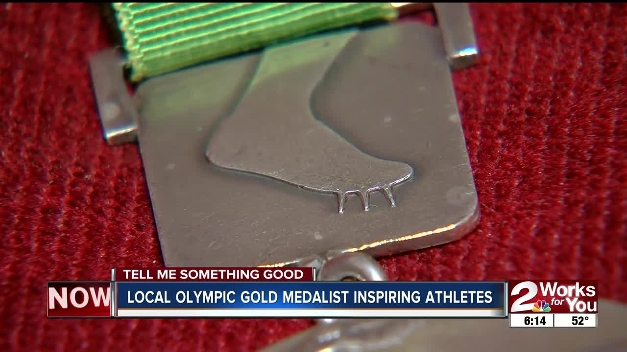 Local Olympic gold medalist inspiring athletes