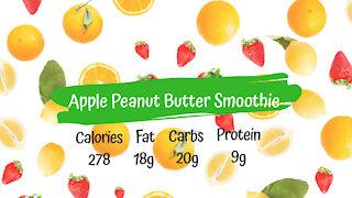 Apple Peanut Butter Smoothie   Healthy Vegan Breakfast Recipe