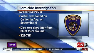 Bakersfield Police Department investigating death of 59-year-old man
