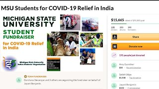MSU students raise money for COVID-19 relief in India