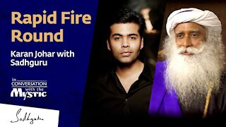 Rapid Fire Round - Karan Johar with Sadhguru