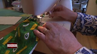 Making a homemade mask to support healthcare workers