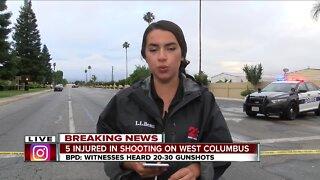 5 teenagers injured in shooting on West Columbus Street