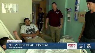 NFL players visit the Palm Beach Children's Hospital