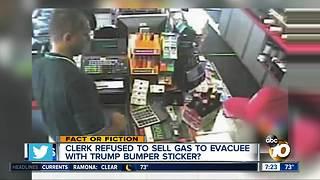 Trump supporter denied gas?
