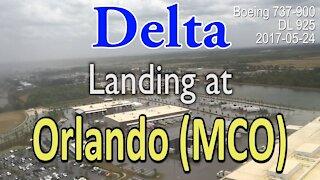 Delta flight landing at MCO (Orlando International Airport) in 737-900