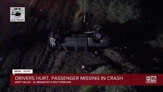 Drivers hurt, passenger missing in west Valley crash