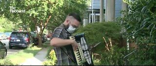 One Virginia Musician plays on people's porches