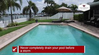 Prepare your pool before a storm | Tracking the Tropics Quick Tip