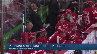 Red Wings offering ticket refunds for missed games