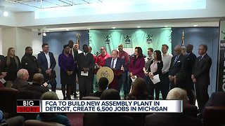 New Fiat Chrysler Detroit plant, and Michigan investments to create 6,500 new jobs