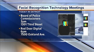 Detroit facial recognition technology meetings Thursday