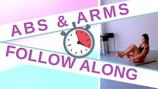 FOLLOW ALONG Workout ⏲️ Abs + Arms | LET'S TRAIN 😍