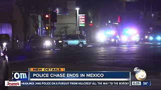San Diego police chase ends with arrests in Mexico
