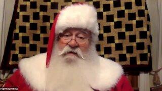 Laurens zoom with Santa