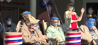 Drive-by Veterans Day thanks at Vets Home