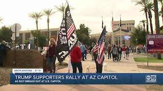 Trump supporters rally at Arizona capitol