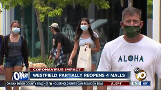 Westfield partially reopens 4 San Diego malls