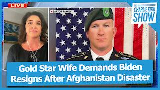 Gold Star Wife Demands Biden Resigns After Afghanistan Disaster
