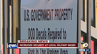 Increased security at local military bases